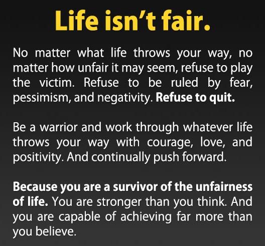 life isn't fair